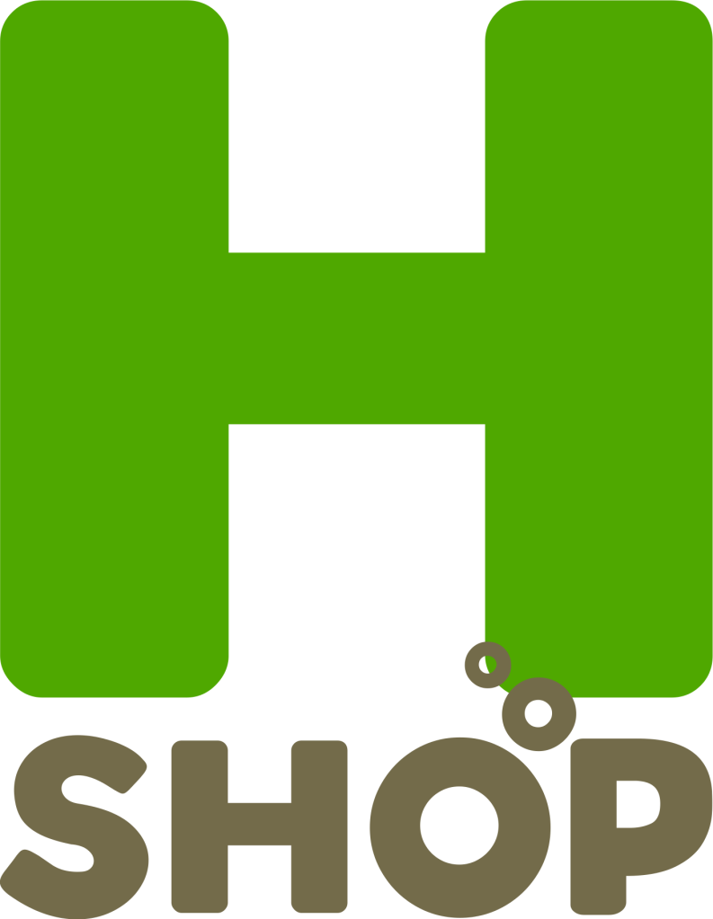 This is the domain name H2.SHOP logo.
